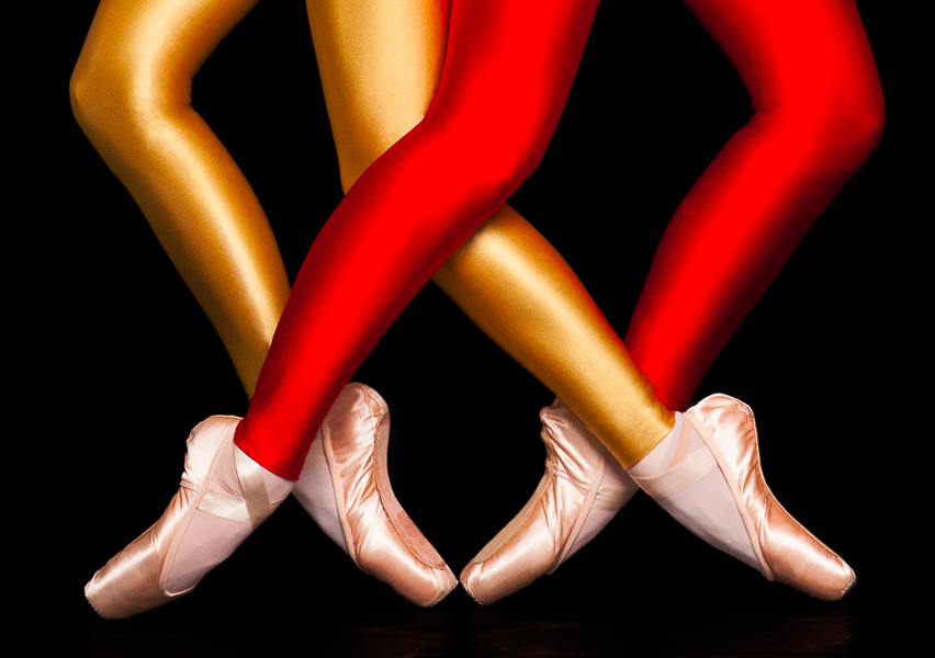 "Pointe Shoes (promotional image for ""Geometric Electric"", a ballet choreographed by Laurel Benedict for B&M Dance Company)"