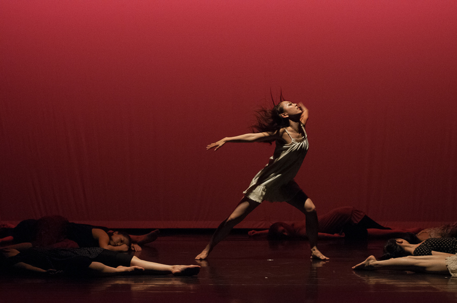 "Kiriko Shimizu in Peter McCoy's modern choreography ""Grace – In Memory of my Mother and Fukushima"""