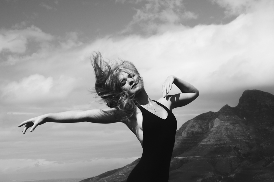 Ballerina Abigail Snyman of Cape Town City Ballet on Signal Hill, Cape Town, South Africa